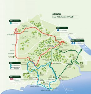 New forest tour route